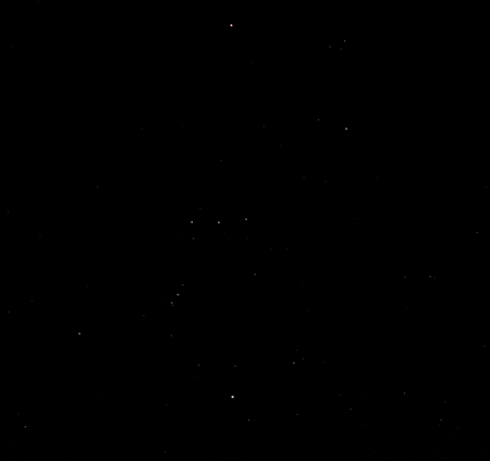 オリオン座(中央部分)