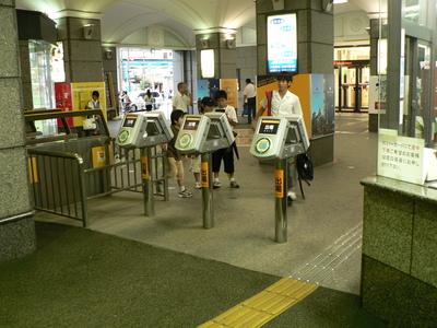 IC改札(松山市駅)
